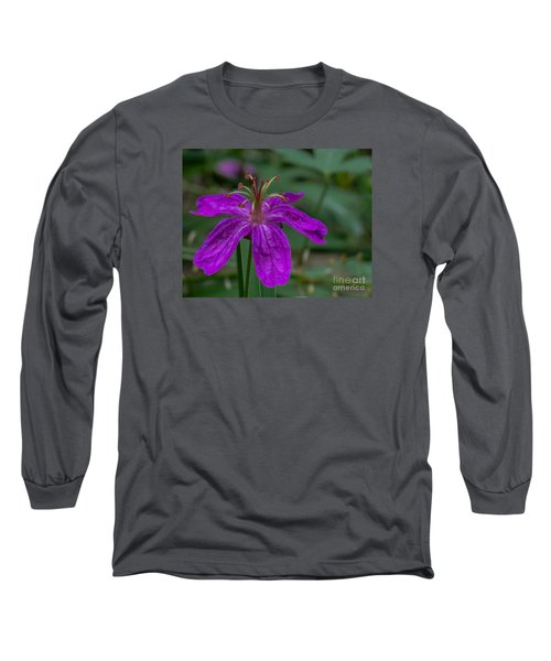 Purple Flower 5 Long Sleeve T-Shirt