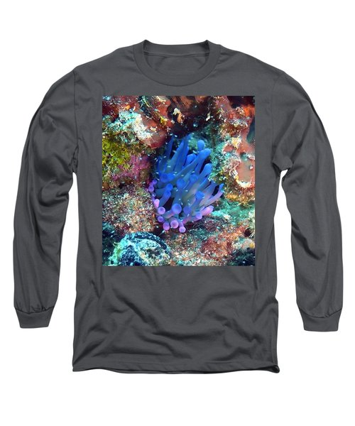 Purple Giant Sea Anemone Long Sleeve T-Shirt