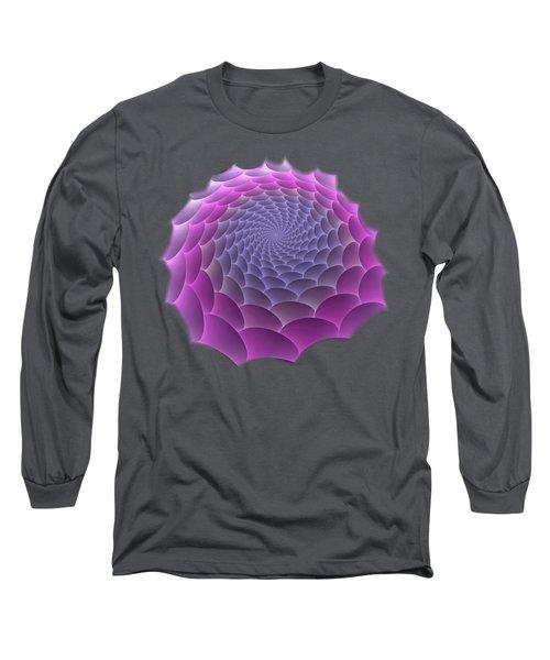 Purple Gradient Long Sleeve T-Shirt
