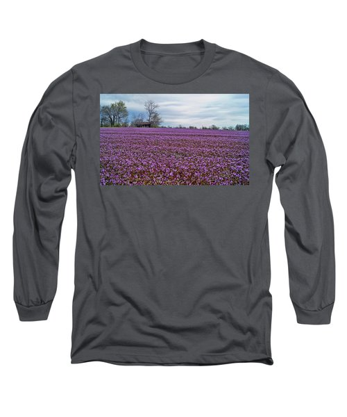 Long Sleeve T-Shirt featuring the photograph Purple Haze by Cricket Hackmann
