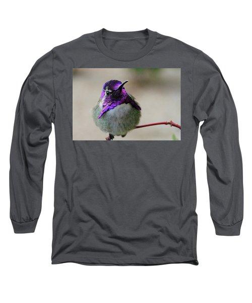 Purple Head Long Sleeve T-Shirt