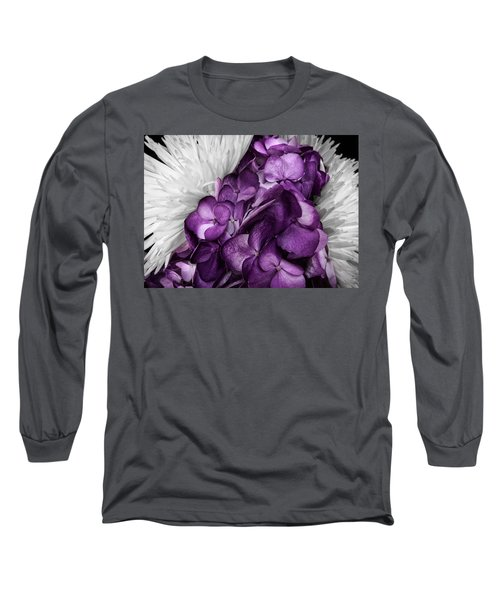 Purple In The White Long Sleeve T-Shirt