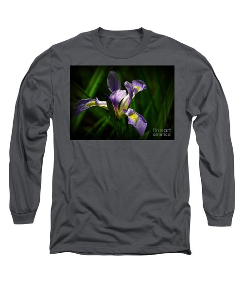 Long Sleeve T-Shirt featuring the photograph Purple Iris by Lisa L Silva
