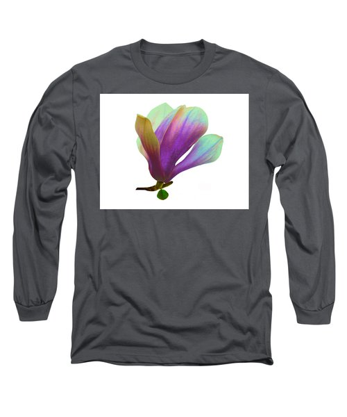 Purple Magnolia Long Sleeve T-Shirt