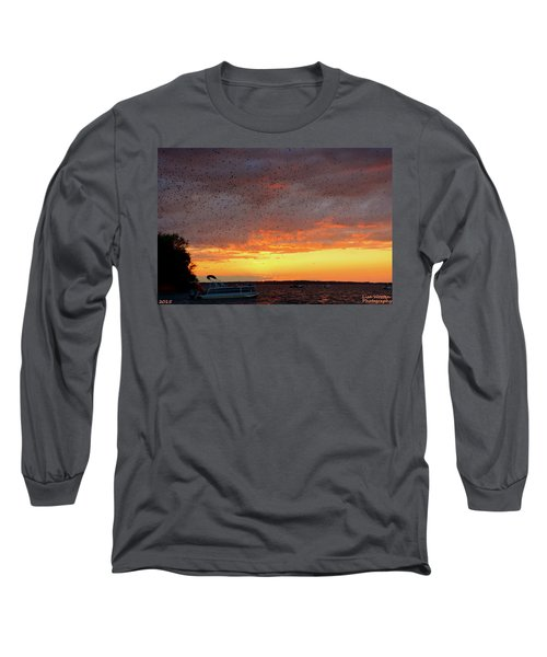 Purple Martin Sunset On Lake Murray Sc Long Sleeve T-Shirt
