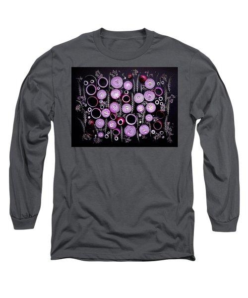 Purple Onion Patterns Long Sleeve T-Shirt