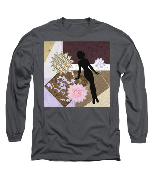 Purple Paper Doll Long Sleeve T-Shirt