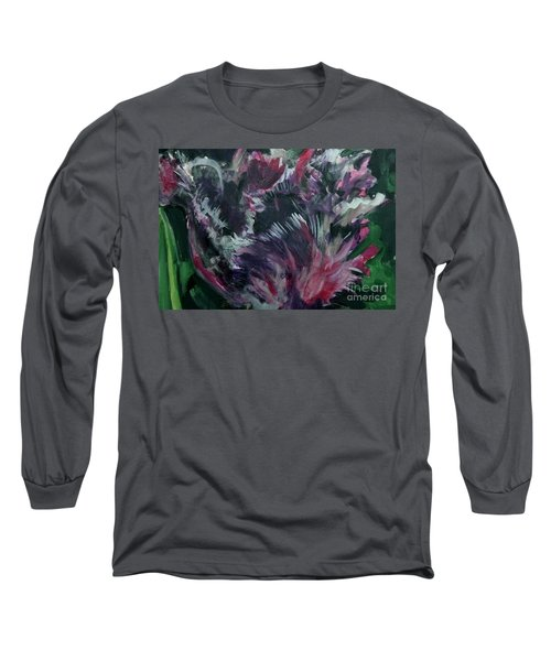 Purple Parrot Long Sleeve T-Shirt