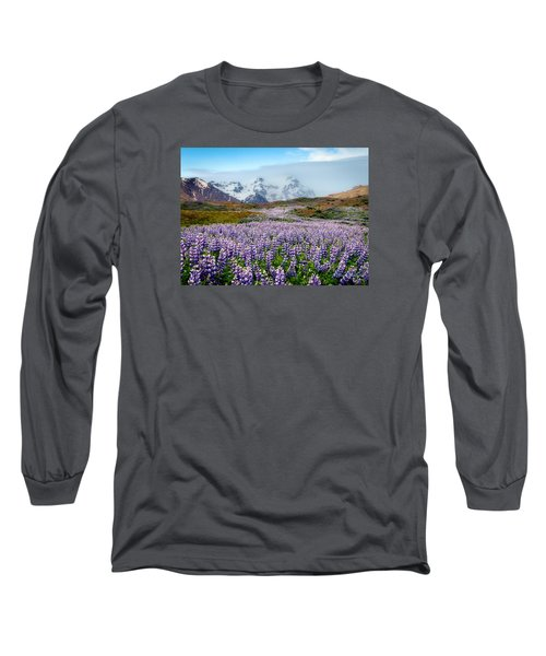 Purple Pathway Long Sleeve T-Shirt by William Beuther