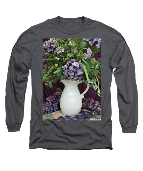 Long Sleeve T-Shirt featuring the photograph Purple Pleasures by Sherry Hallemeier
