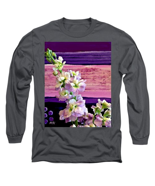 Purple Purple Everywhere Long Sleeve T-Shirt by Marsha Heiken