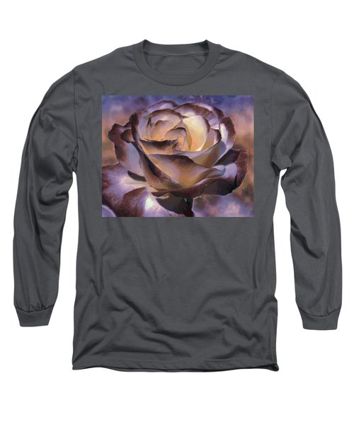 Purple Rose Long Sleeve T-Shirt by Athala Carole Bruckner