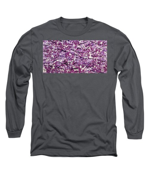 Purple Splatter Long Sleeve T-Shirt