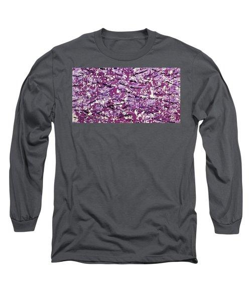 Purple Splatter Long Sleeve T-Shirt