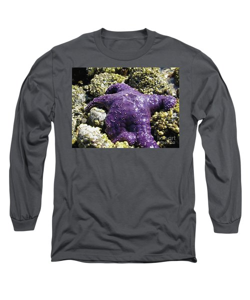 Purple Star Fish Long Sleeve T-Shirt