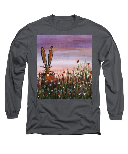 Purple Sunset Hare Long Sleeve T-Shirt