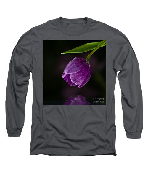 Purple Tulip Long Sleeve T-Shirt