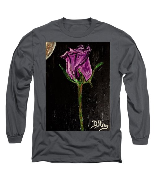 Purple Under The Moon's Glow Long Sleeve T-Shirt