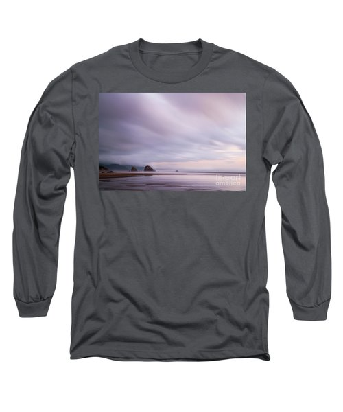 Purple Wisp In The Morning Long Sleeve T-Shirt