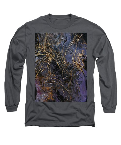 Purple With Texture Long Sleeve T-Shirt