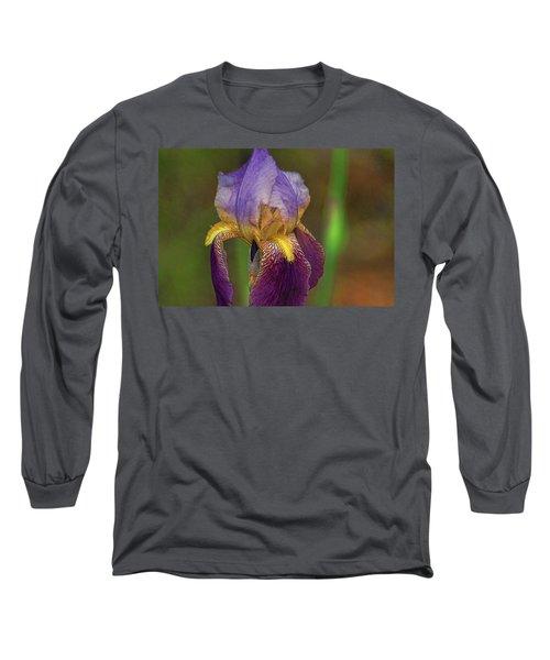 Purplish Iris Long Sleeve T-Shirt