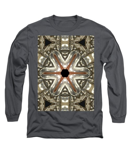 Puzzle In Taupes Long Sleeve T-Shirt