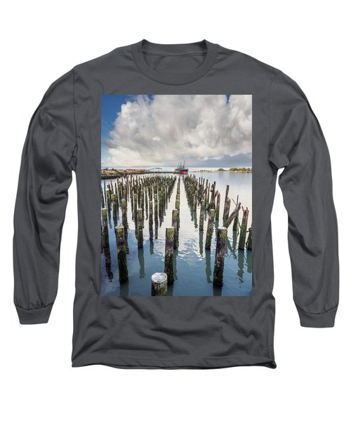Long Sleeve T-Shirt featuring the photograph Pylons To The Ship by Greg Nyquist
