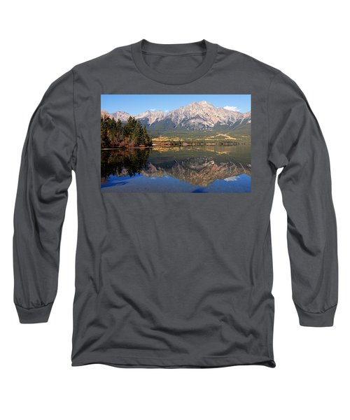 Pyramid Mountain And Pyramid Lake 2 Long Sleeve T-Shirt