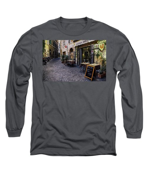 Quaint Cobblestones Streets In Rome, Italy Long Sleeve T-Shirt