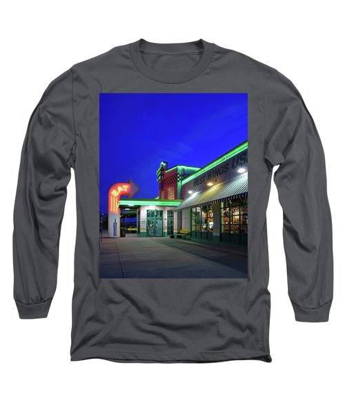 Long Sleeve T-Shirt featuring the photograph Quaker Steak And Lube by Christopher McKenzie