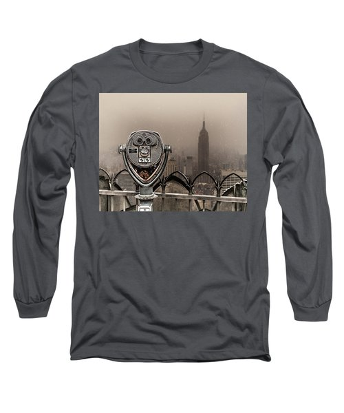 Long Sleeve T-Shirt featuring the photograph Quarters Only by Chris Lord