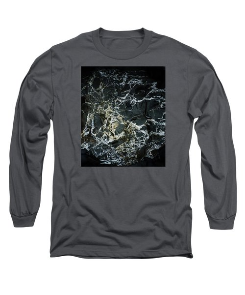 Quartz Veins Abstract 1 Long Sleeve T-Shirt by Richard Brookes
