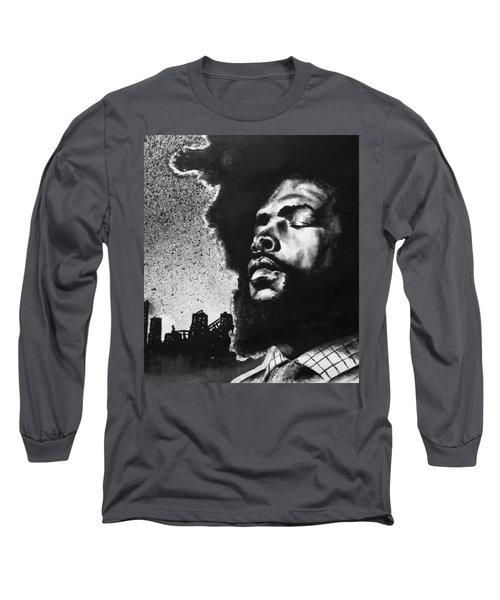 Long Sleeve T-Shirt featuring the painting Questlove. by Darryl Matthews