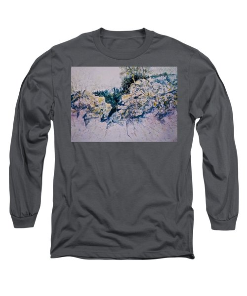 Long Sleeve T-Shirt featuring the painting Quiet Journey by Carolyn Rosenberger