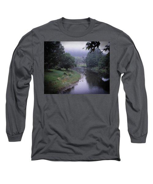 Quiet Stream- Woodstock, Vermont Long Sleeve T-Shirt