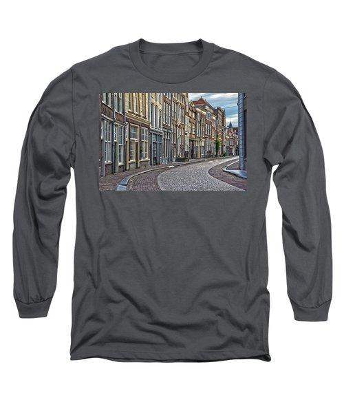 Quiet Street In Dordrecht Long Sleeve T-Shirt