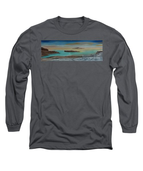 Quiet Tropical Waters Long Sleeve T-Shirt by Rod Jellison