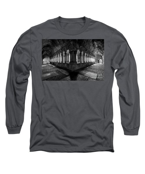 Long Sleeve T-Shirt featuring the photograph Quin Abbey by Dennis Hedberg