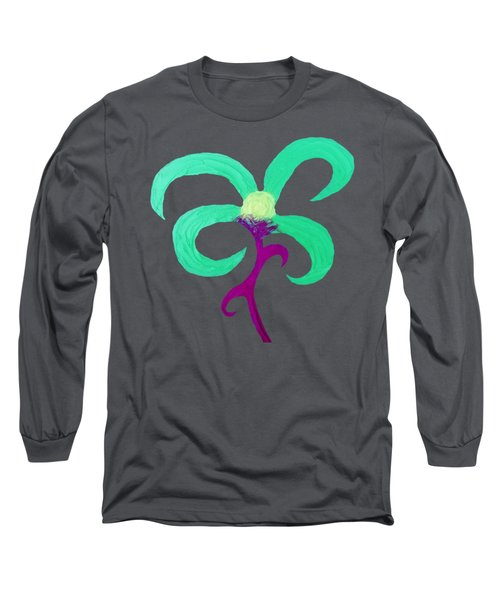 Long Sleeve T-Shirt featuring the mixed media Quirky 5 by Rachel Hannah