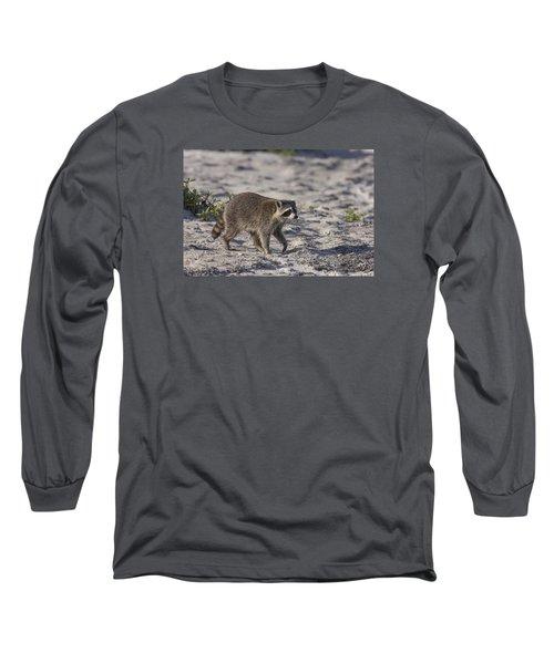 Raccoon On The Beach Long Sleeve T-Shirt