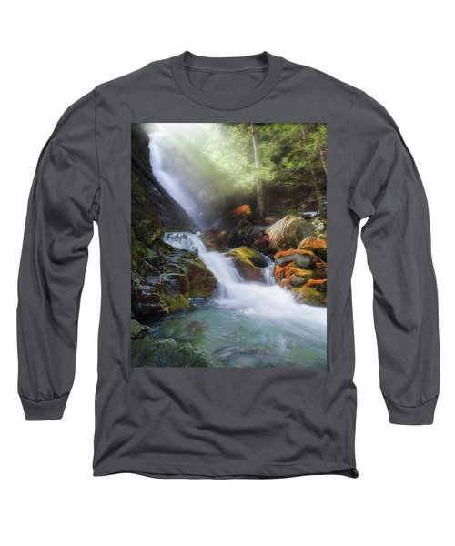 Long Sleeve T-Shirt featuring the photograph Race Brook Falls 2017 by Bill Wakeley