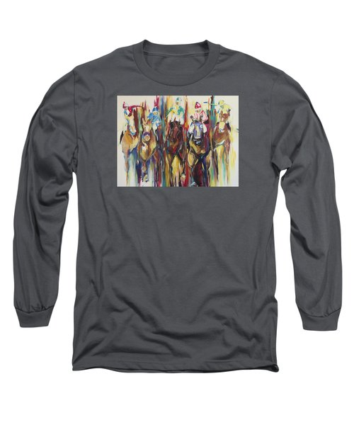 Race Track Long Sleeve T-Shirt by Heather Roddy