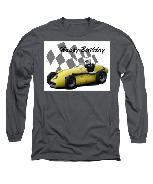 Racing Car Birthday Card 4 Long Sleeve T-Shirt