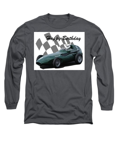 Racing Car Birthday Card 5 Long Sleeve T-Shirt
