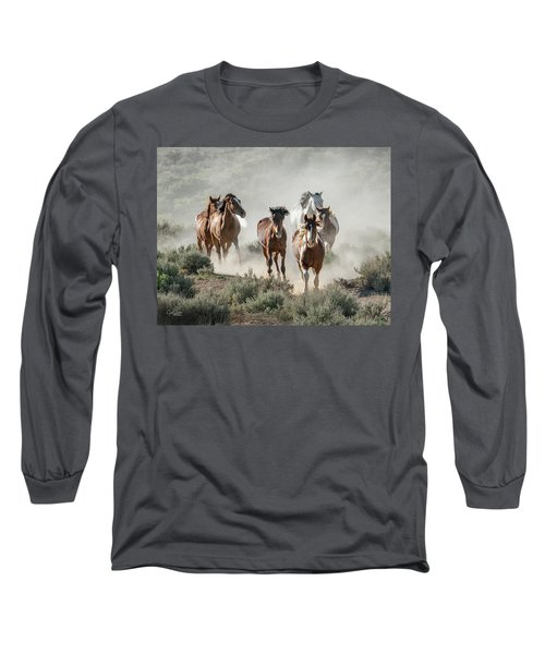 Racing To The Water Hole Long Sleeve T-Shirt