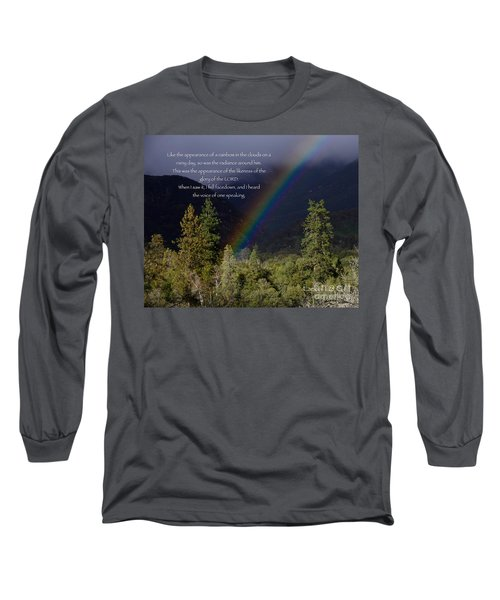 Long Sleeve T-Shirt featuring the photograph Radiance Of The Rainbow by Debby Pueschel
