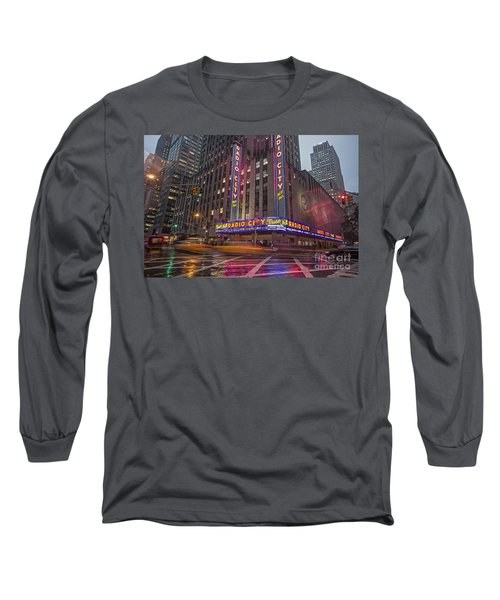 Long Sleeve T-Shirt featuring the photograph Radio City New York  by Juergen Held