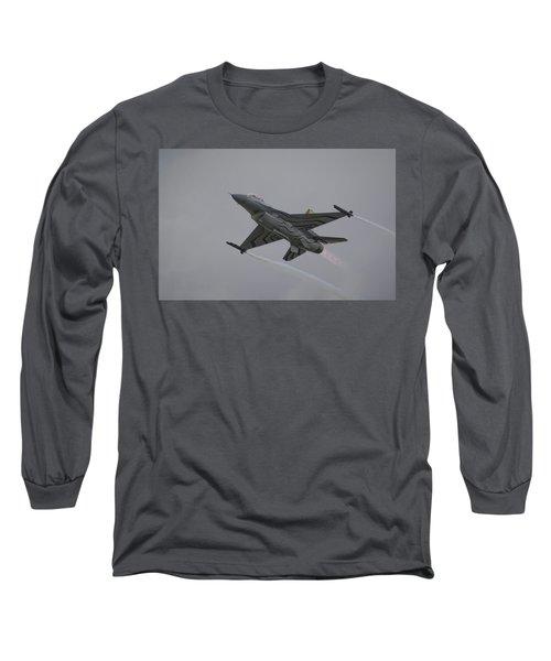 Raf Scampton 2017 - F-16 Fighting Falcon Long Sleeve T-Shirt