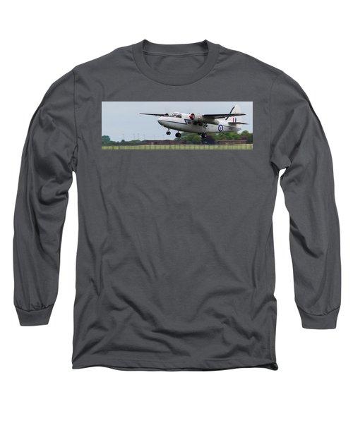 Raf Scampton 2017 - Hunting Percival P 66 Pembroke Taking Off Long Sleeve T-Shirt