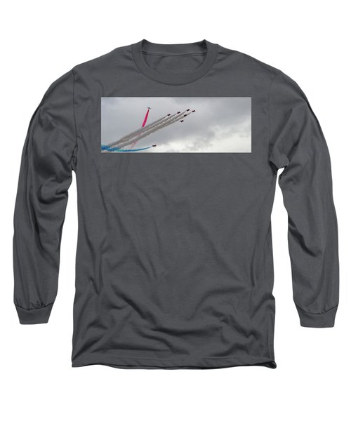 Raf Scampton 2017 - Red Arrows Tornado Formation Long Sleeve T-Shirt
